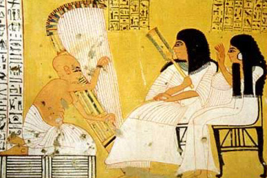 Ancient egyptisn harp