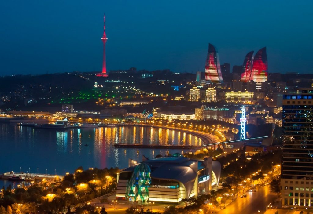 Baku at night